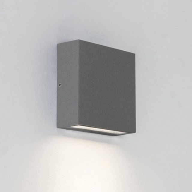 Astro 1331003 Elis Single Outdoor Wall Light in Painted Silver Finish