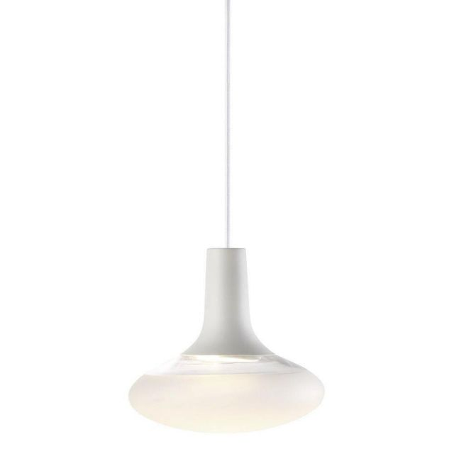 Nordlux 84423001 Dee 2.0 Oval Ceiling Pendant Light In White With Frosted Glass - Dia: 245mm