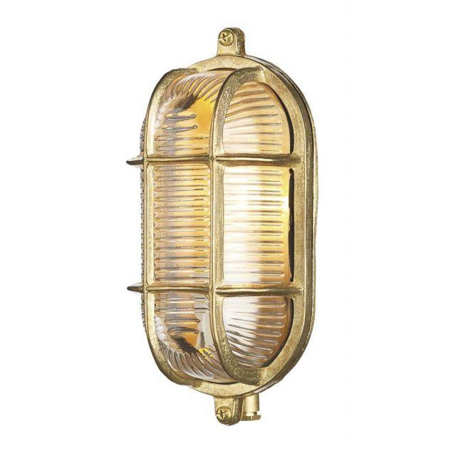 David Hunt Lighting ADM5240 Admiral Brass Small Oval Outdoor Wall Light IP64