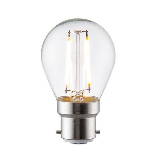 4 Watt BC Clear LED Golfball Warm White