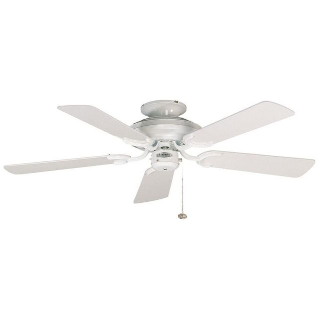 """Fantasia 110644 Mayfair 42"""" Ceiling Fan In Gloss White With Gloss White Blades"""