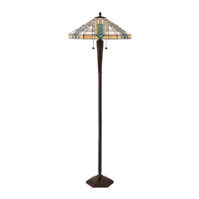 Interiors 1900 70667 Lloyd Tiffany 3 Light Floor Lamp In Tradiitonal Bronze