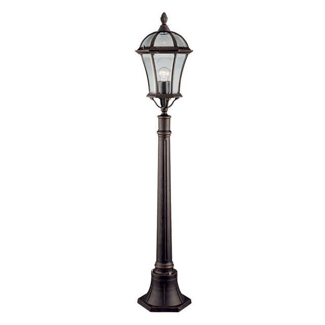 Searchlight 1568 Capri Rustic Brown Outdoor Medium Post Light