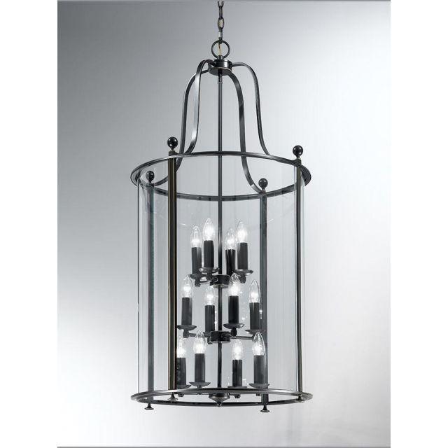 L7001/12 12 Light Antique Bronze Hanging Lantern
