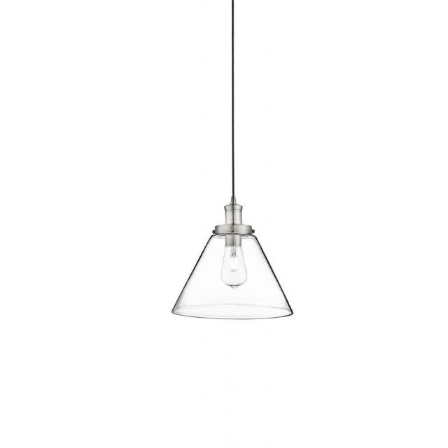 Searchlight 3228SS Pyramid 1 Light Ceiling Pendant Light In Satin Silver