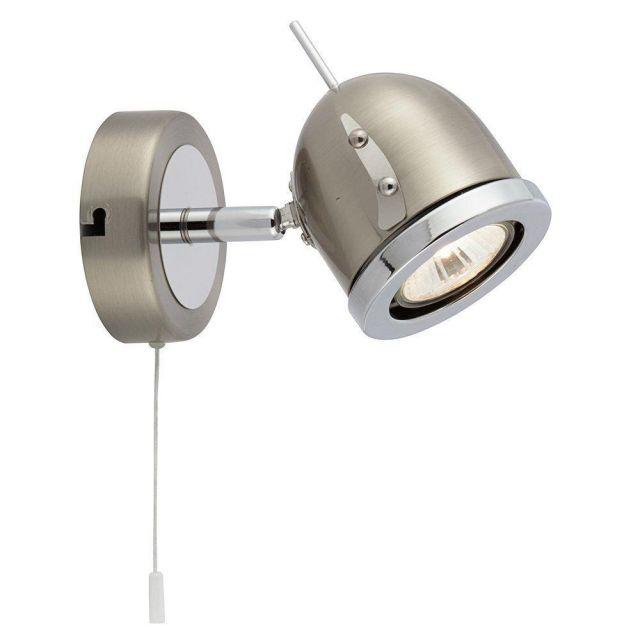 Searchlight 4921SS Palmer Chrome and Satin Silver Single Spotlight