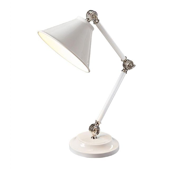 PV ELEMENT WPN Provence Element Mini Table Lamp In White And Polished Nickel