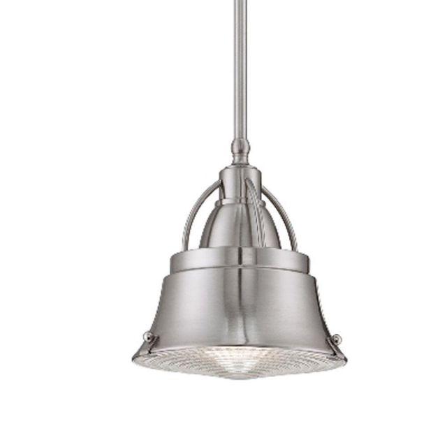 Elstead QZ/CODY/P/S BN Cody 1 Light Mini Pendant Ceiling Light In Brushed Nickel