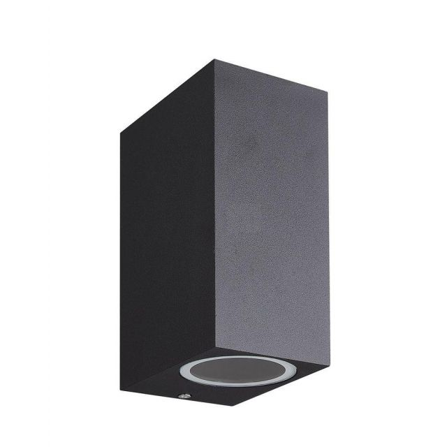 Mantra M7037 Kandanchu 2 Light Square Outdoor Wall Light In Sand Black - H: 150mm