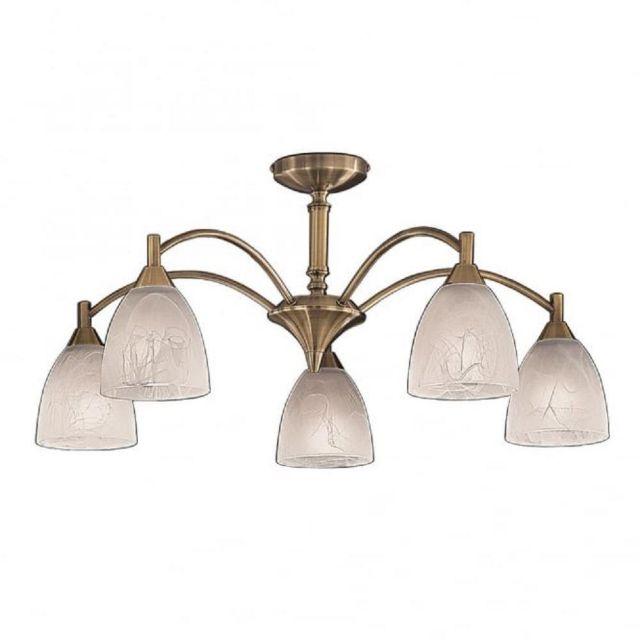 F2105/5 5 Light Bronze Semi-Flush Ceiling Light