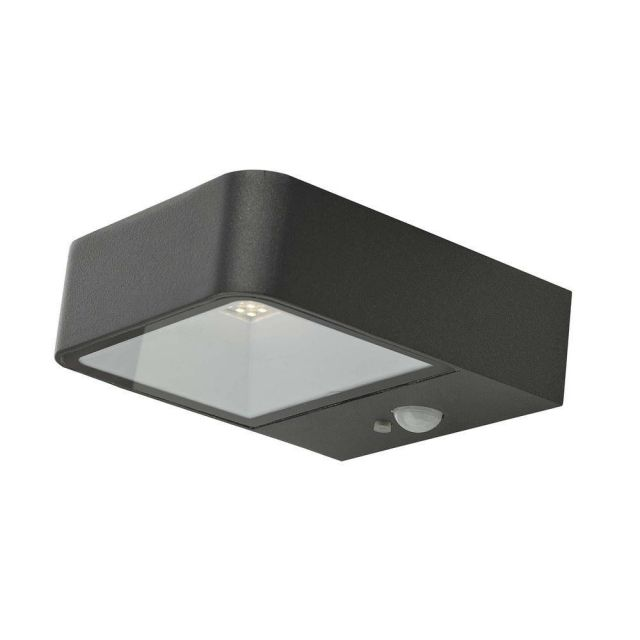 Dar NOX2139 Noxolo 1 Light Outdoor Wall Light In Grey With Clear Glass