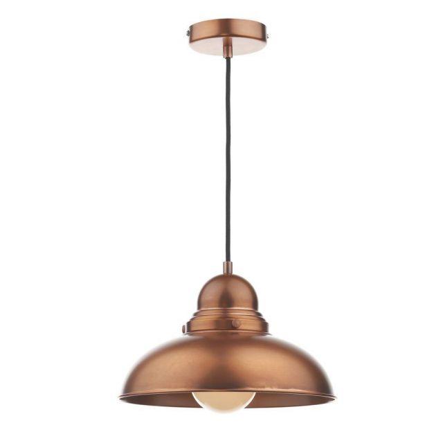 Dar DYN0164 Dynamo Pendant Ceiling Light Antique Copper