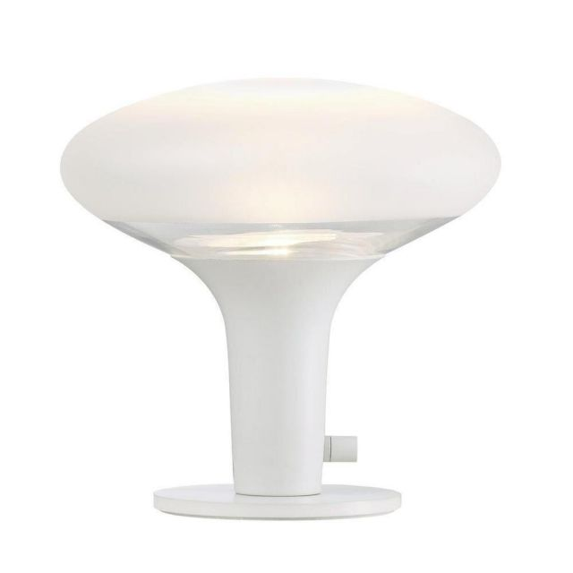 Nordlux 84435001 Dee 2.0 Table Lamp In White With Frosted Glass
