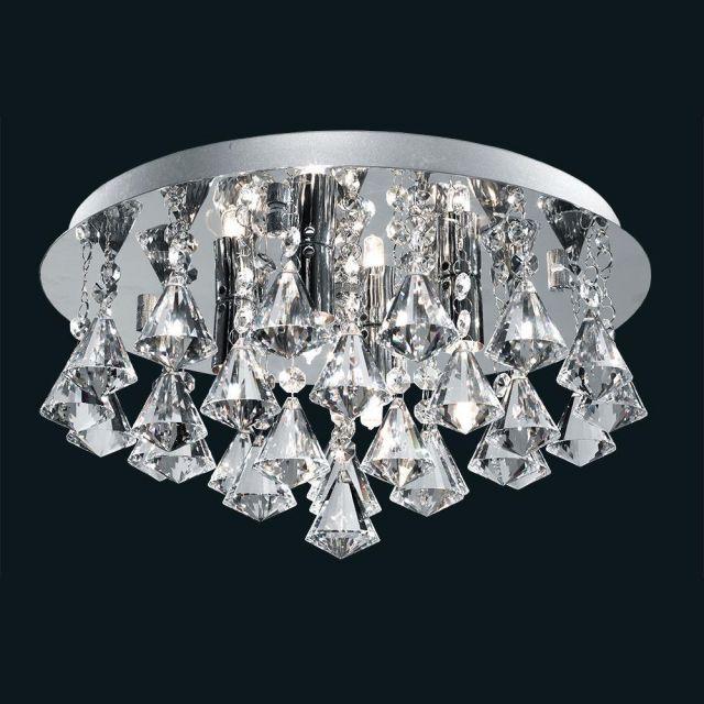 Searchlight 3304-4CC Hanna 4 Light Flush Ceiling Crystal Light