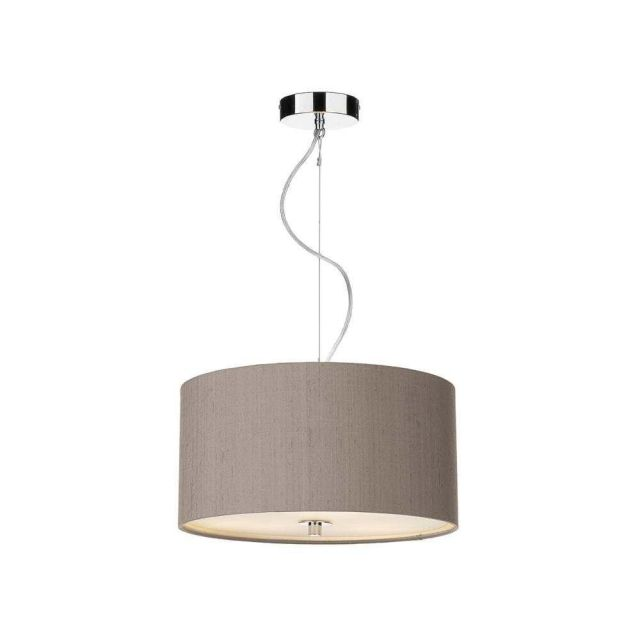 REN1072 Renoir 400MM Pendant Light In Polished Chrome With Truffle Shade