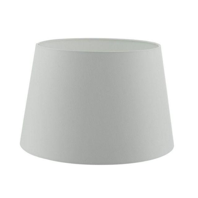 Dar CEZ142 Cezanne Tapered 350MM Diameter Drum Shade In White Faux Silk