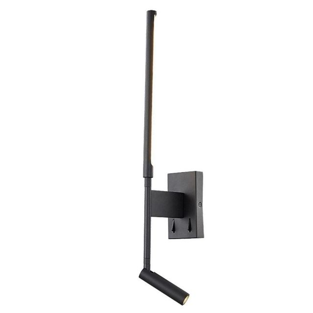 Mantra M6703 Torch 2 Light 6 Watt + 3 Watt LED Wall And Reading Light In Sand Black - Switched