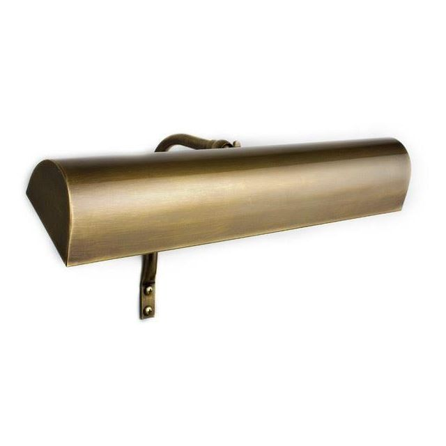 Oxford Solid Brass Trough Frame Mounted Picture Light Antique Brass