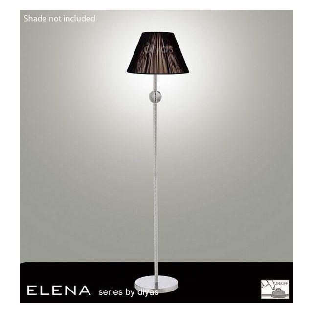 IL30610 Elena Chrome And Crystal Cloth Floor Lamp Base