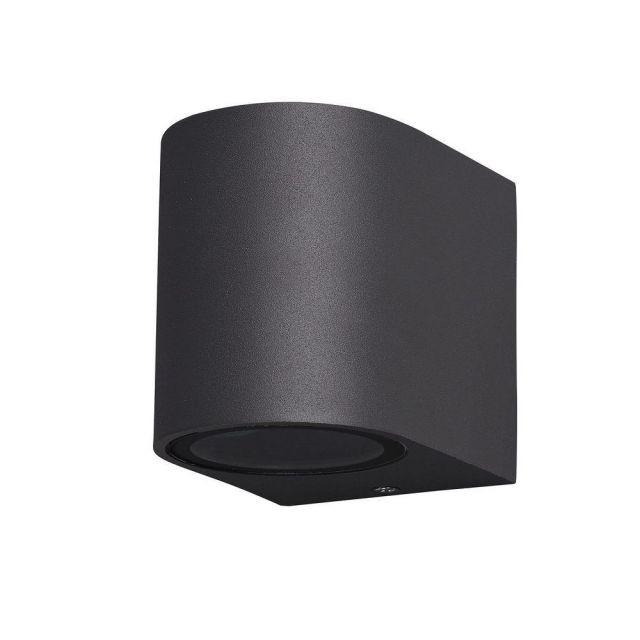 Mantra M6512 Kandanchu 1 Light Round Outdoor Wall Light In Anthracite - H: 80mm