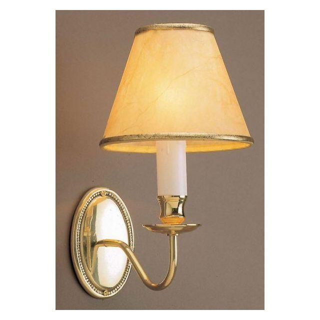 Georgian BB51 Polished brass single wall light