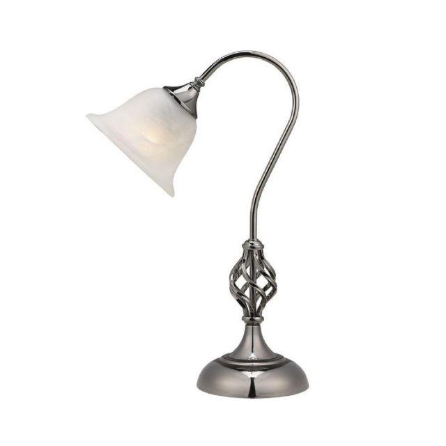 Classic 1 Light Swan Neck Table Lamp In Gun Metal