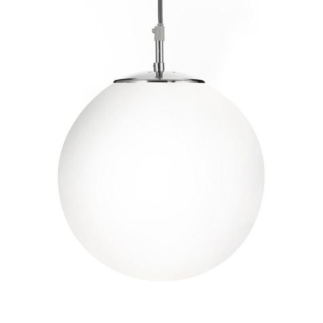 Searchlight 6066 Atom 1 Light Ceiling Pendant Light In Satin Silver