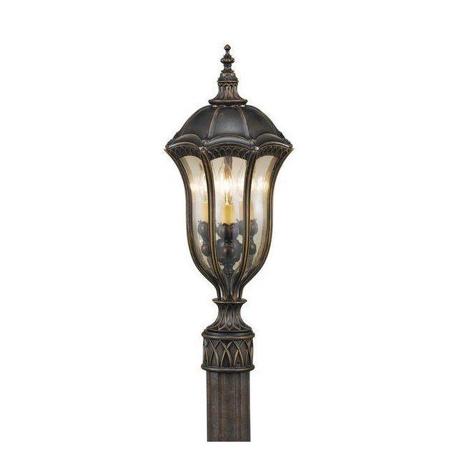 FE/BATONRG3 Outdoor 3 Light Die Cast Aluminium Pedestal