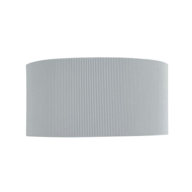 Searchlight 3462-2SI Drum Pleat 2 Light Wall Light In Chrome With Silver Shade