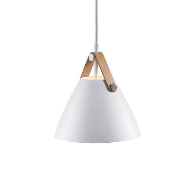 Nordlux 84303001 Strap 16 1 Light Ceiling Pendant In White With White Cable