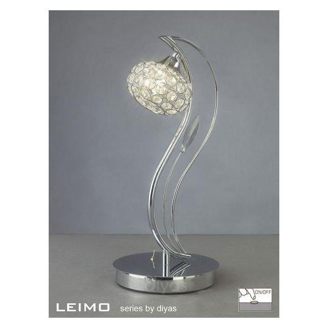 IL30959 Leimo 1 Light Polished Chrome Table Lamp