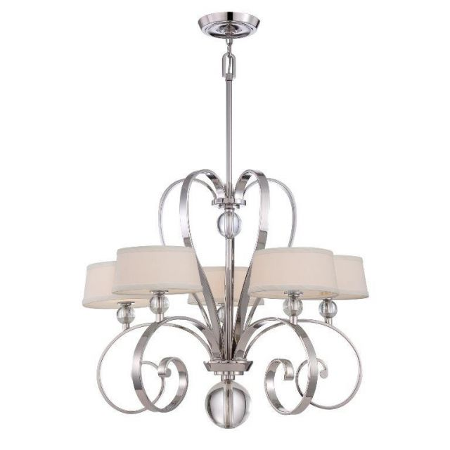 QZ/MADISONM5 IS Imperial Silver Madison Manor 5 Light Chandelier