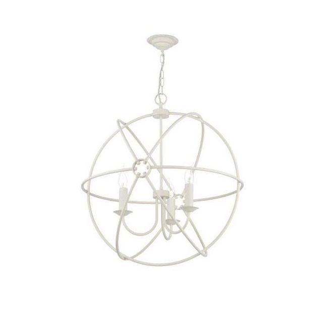 David Hunt Lighting ORB0333 Orb 3 Light Ceiling Pendant in Cream