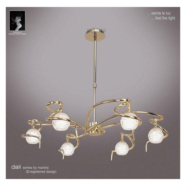 M0079PB Dali 6 Light Polished Brass Chandelier