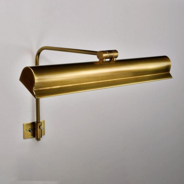 Harvard Antique Brass 350mm Frame Mounted Picture Light