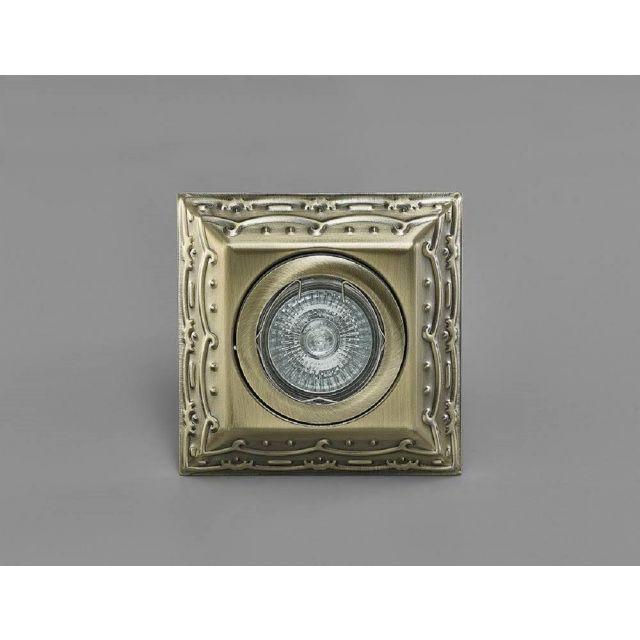 Diyas IL30847AB Aspen Vintage Design Square Downlight In Antique Brass