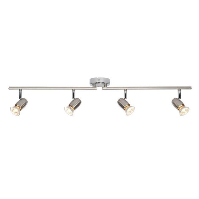 Saxby G5503177 Palermo Brushed and Polished Chrome Four Bar Spotlight