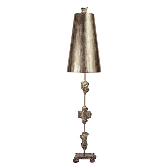 FB/FRAGMENT-TL-S 1 Light Aged Silver Table Lamp