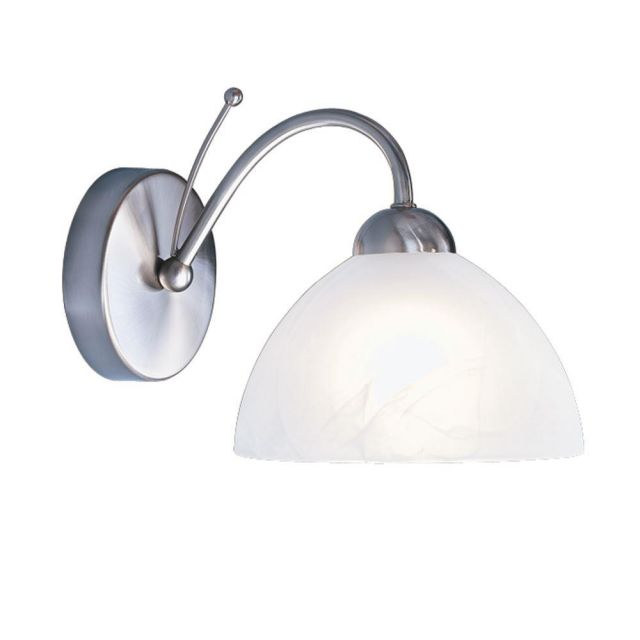 Searchlight 1131-1SS Milanese 1 Light Wall Light In Satin Silver