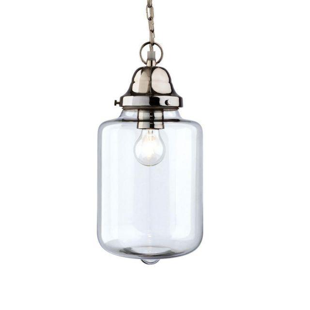Firstlight 2348CH Craft Chrome and Glass Ceiling Pendant Light