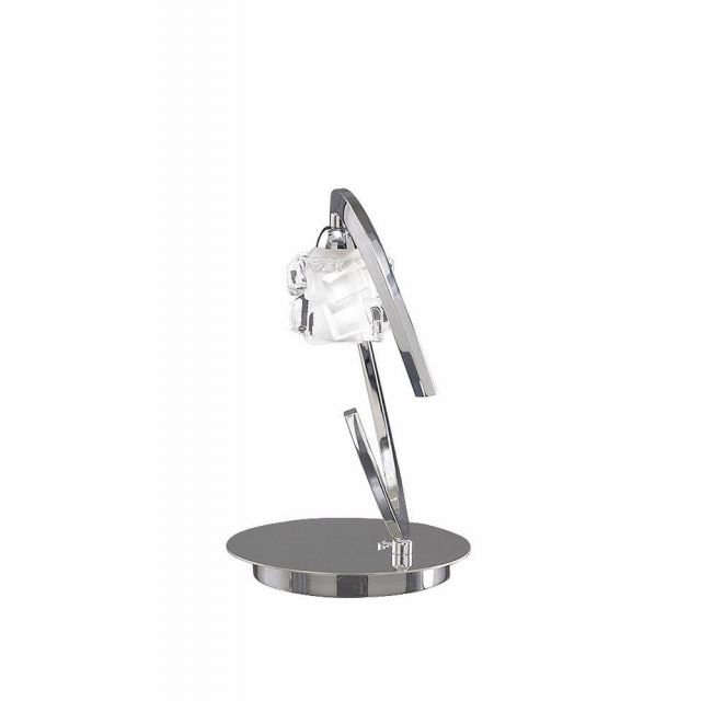 Mantra M1846 Ice 1 Light Table Lamp In Chrome