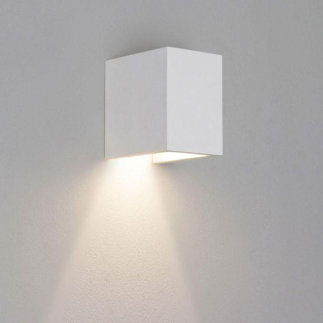 Astro 1187009 Parma 110 GU10 Minimalist Wall Uplighter in Plaster Finish