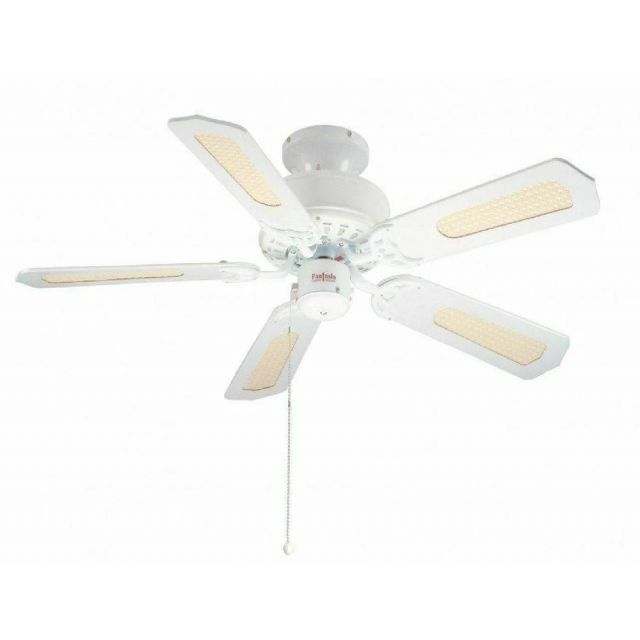 Fantasia 110095 Belaire Ceiling Fan In White Without Light