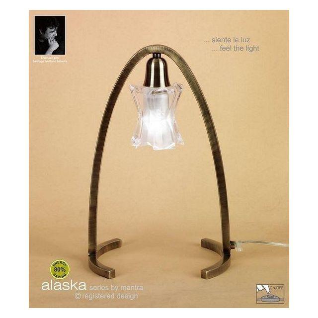 M0615AB Alaska Halogen 1 Light Antique Brass Table Lamp