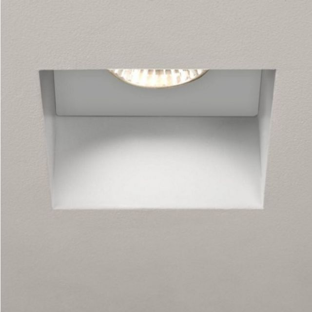 Astro 1248005 Trimless Square Recessed Ceiling Light in White Finish