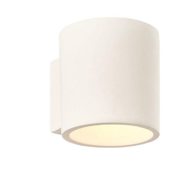 1 Light Curve Wall Light In White Plaster
