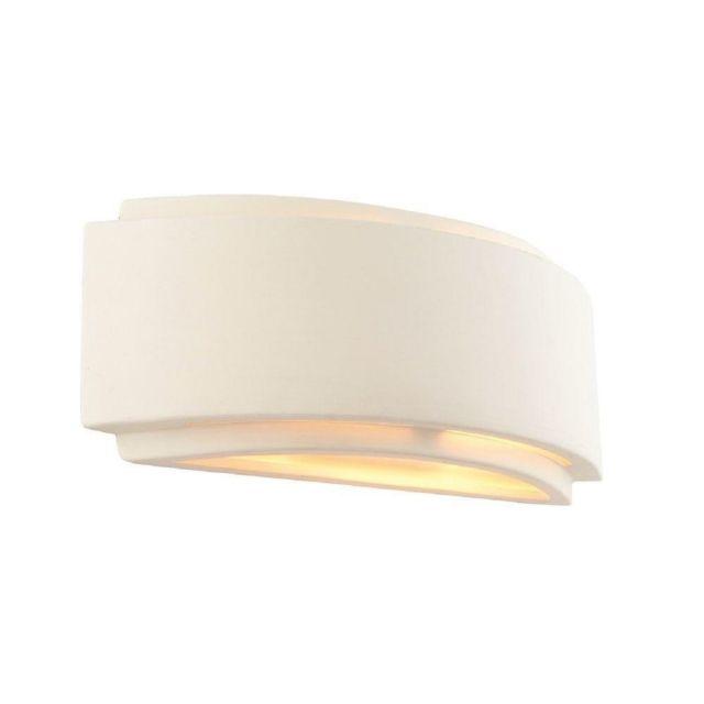 1 Light Unglazed Ceramic Rectangular Wall Light