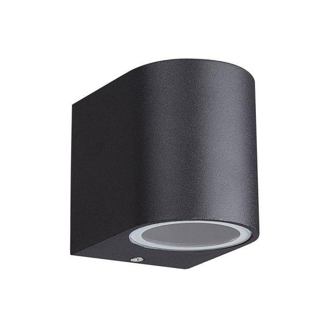 Mantra M7039 Kandanchu 1 Light Round Outdoor Wall Light In Sand Black - H: 80mm