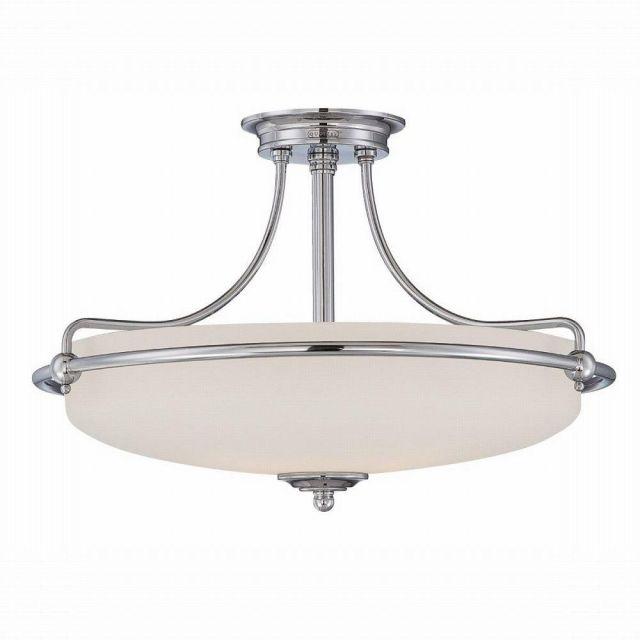QZ/GRIFFIN/SFM C 4 Light Med Chrome Semi Flush Ceiling Light