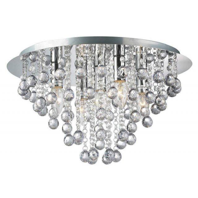 Palazzo 5 Light Round Acrylic Flush Chandelier